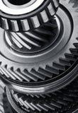 Gear metal wheels. Close-up Royalty Free Stock Image