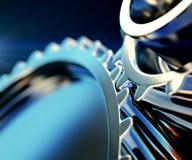 Gear metal wheels close-up Stock Photos