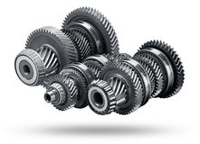 Gear metal wheels Royalty Free Stock Image