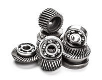 Gear metal wheels Stock Images