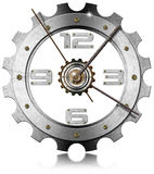 Gear Metallic Clock Royalty Free Stock Photo
