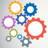Gear modeling abstract background Stock Images