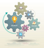 Gear modern group with icons template stock illustration