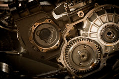 Gear motor in the engine cars abstract background Royalty Free Stock Image
