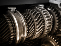 Gear Motor Machine parts Car Engineering details. Close up Royalty Free Stock Image