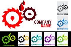 Gear oil logo Stock Photos