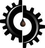 Gear oil logo Stock Photography