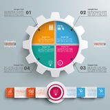 Gear 4 Options Infographic Circle Banner Royalty Free Stock Photography