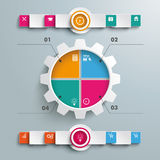 Gear 4 Options Infographic 2 Circle Banners Royalty Free Stock Photos