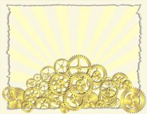 Gear Paper Background Royalty Free Stock Images