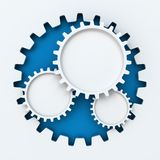 Gear paper cutout infographic with copyspace Royalty Free Stock Image