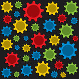 Gear pattern background vector Royalty Free Stock Photography