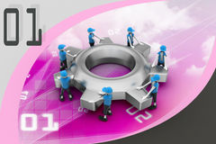 Gear and people , team work concept Stock Photography