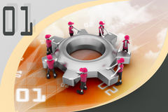 Gear and people , team work concept Royalty Free Stock Photo
