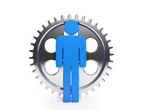 Gear and people, work Royalty Free Stock Photos