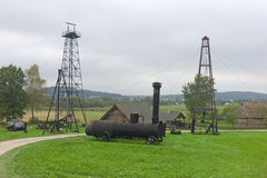 Gear for petroleum production at Skansen open air museum Royalty Free Stock Photo