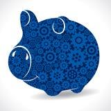 Gear piggy bank Stock Photography