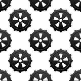 Gear and pinion seamless pattern Stock Photos