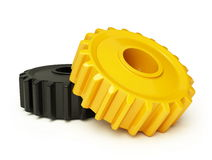 Gear plastic. On a white background Stock Photography