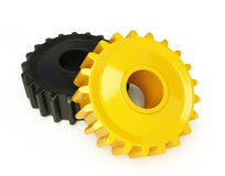 Gear plastic. On a white background Stock Photo