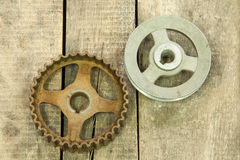 Gear, pulley Stock Photography