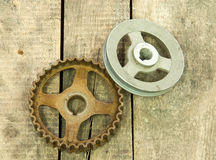 Gear, pulley Stock Image