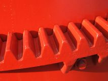 Gear rack fragment Stock Images