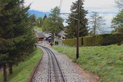 Gear railroad. Haut-de-Caux, Montreux, Switzerland Stock Photography