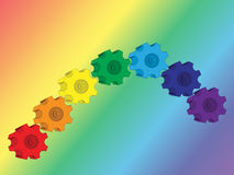 Gear-rainbow Stock Photos