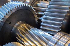 Gear reducer. Steel rotation engine Stock Image