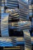 Gear reducer. Steel rotation engine Stock Photo