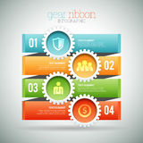 Gear Ribbon Infographic Royalty Free Stock Photography