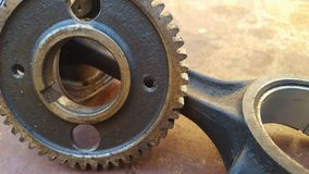 Gear rotary parts, the main driving component on the engine. In the machine block stock images