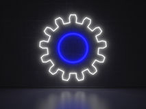 Gear - Series Neon Signs Stock Images