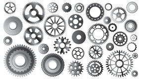 Gear sets on white Royalty Free Stock Photos