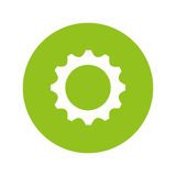 Gear settings isolated icon Royalty Free Stock Photography