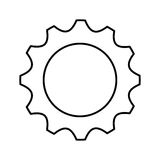 Gear settings isolated icon Royalty Free Stock Photos