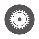 Gear settings isolated icon Stock Image