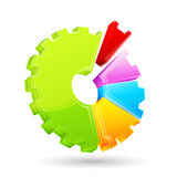 Gear Shape Pie Chart Royalty Free Stock Photography