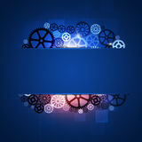 Gear Shapes Blue Business Stock Image