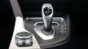 Gear shift in automobile stock photo