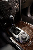Gear shift in car. Royalty Free Stock Photo
