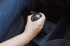 Gear shift lever Stock Photography