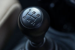 Gear shift. Manual Type of cars Royalty Free Stock Photography
