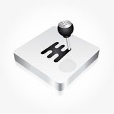 Gear shift stick Stock Images