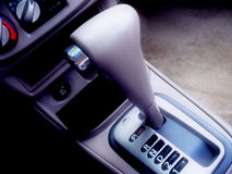 Gear Shifter. Car Interior Royalty Free Stock Photography