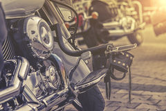 Gear shifter pedal of a motorcycle. Stock Photography