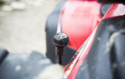 Gear shifting lever on a quad bike. For off road Stock Images