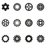 Gear silhouette icons. Illustration Stock Photo
