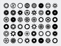 Gear Silhouettes stock illustration